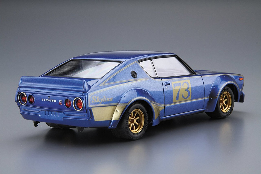 Aoshima 53492 The Model Car 48 NISSAN KPGC110 SKYLINE2000GT-R Racing #73 1/24 scale kit