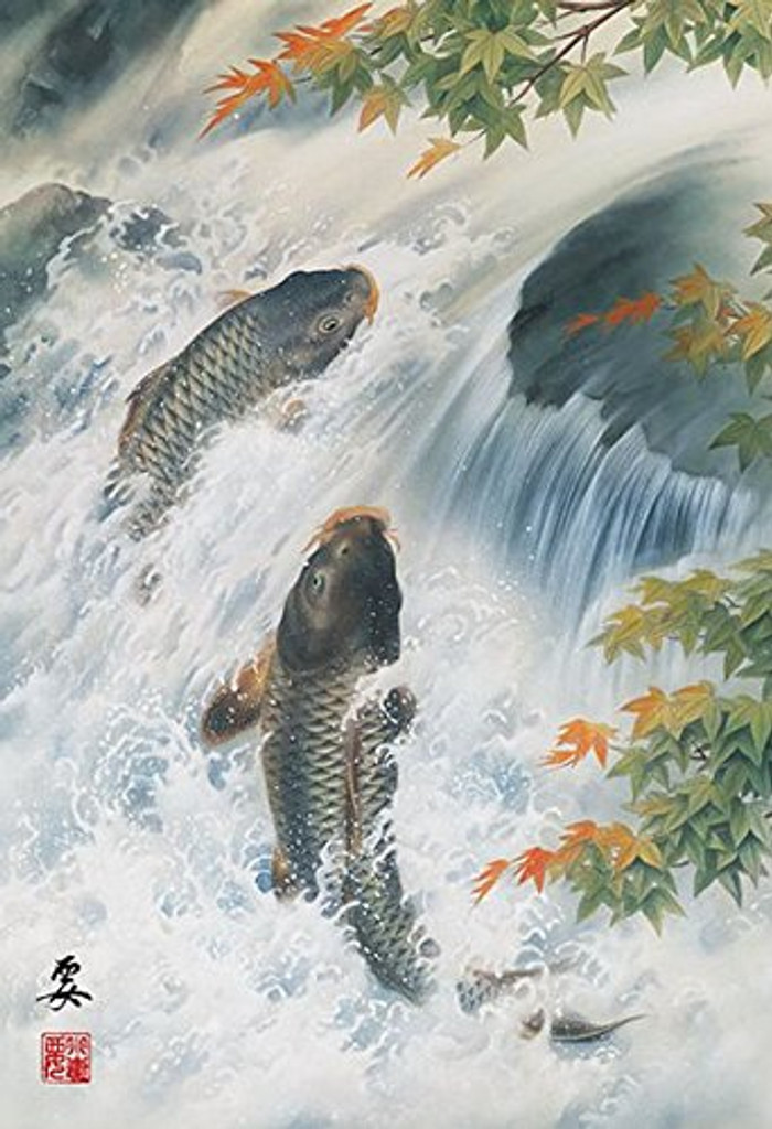 APPLEONE Jigsaw Puzzle 88-103 Japanese Art Ozuma Kaname Carp (88 L-Pieces)