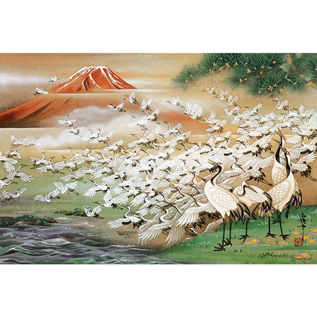 APPLEONE Jigsaw Puzzle 1000-815 Japanese Art Hakuga Takeuchi Tsuru Cranes (1000 Pieces)