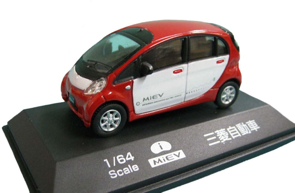 Doyusha 005354 i MieV Mitsubishi i (Red/White) 1/64 Scale Diecast Model