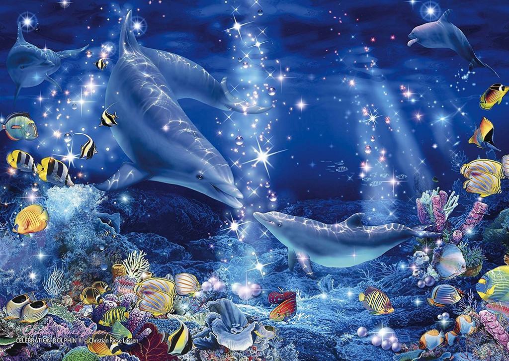 Epoch Jigsaw Puzzle 02-403 Lassen Celebration Dolphin II (108 Pieces)