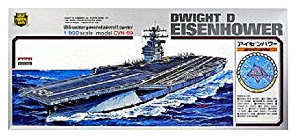 Arii-05 618059 USS Aircraft Carrier Dwight D Eisenhower CVN-69 1/800 Scale Kit (Microace)