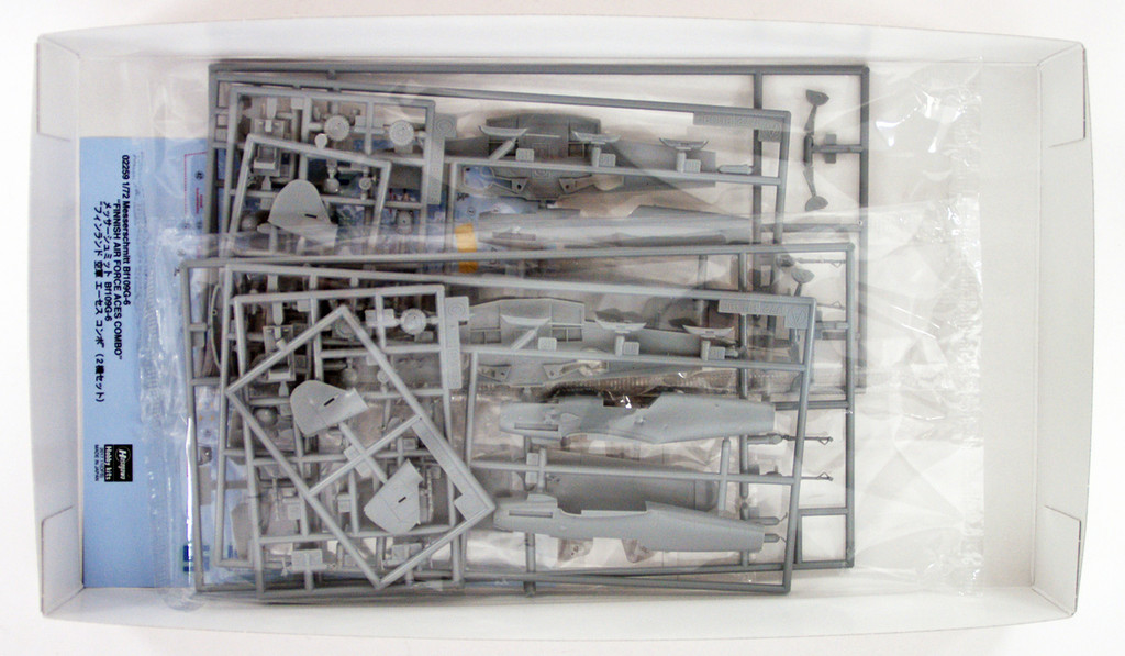 "Hasegawa 02259 Messerschmitt Bf109G-6 ""Finnish Air Force Aces Combo"" 1/72 scale kit"