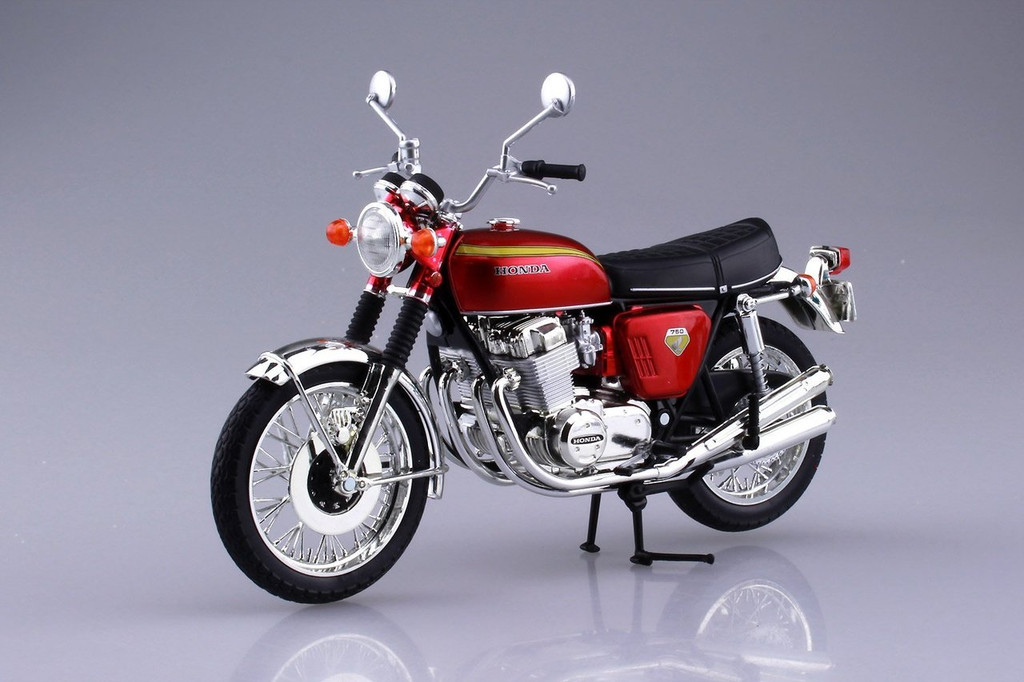 Aoshima Skynet 04323 Honda CB750FOUR (K0) Candy Red 1/12 Scale Finished Model