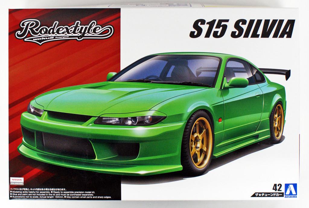 Aoshima 54512 Rodextyle S15 SILVIA '99 (NISSAN) 1/24 scale kit
