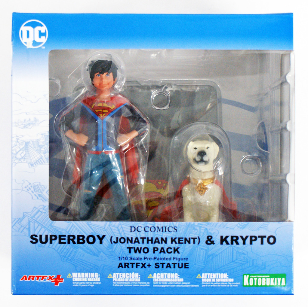 Kotobukiya SV206 ARTFX+ DC Universe Supersons Jonathan Kent & Krypto Set of 2 1/10 Scale Figure