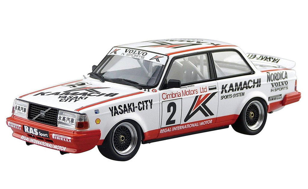 Aoshima 98257 Volvo 240 Turbo '86 Macau Guia Race Winner 1/24 scale kit