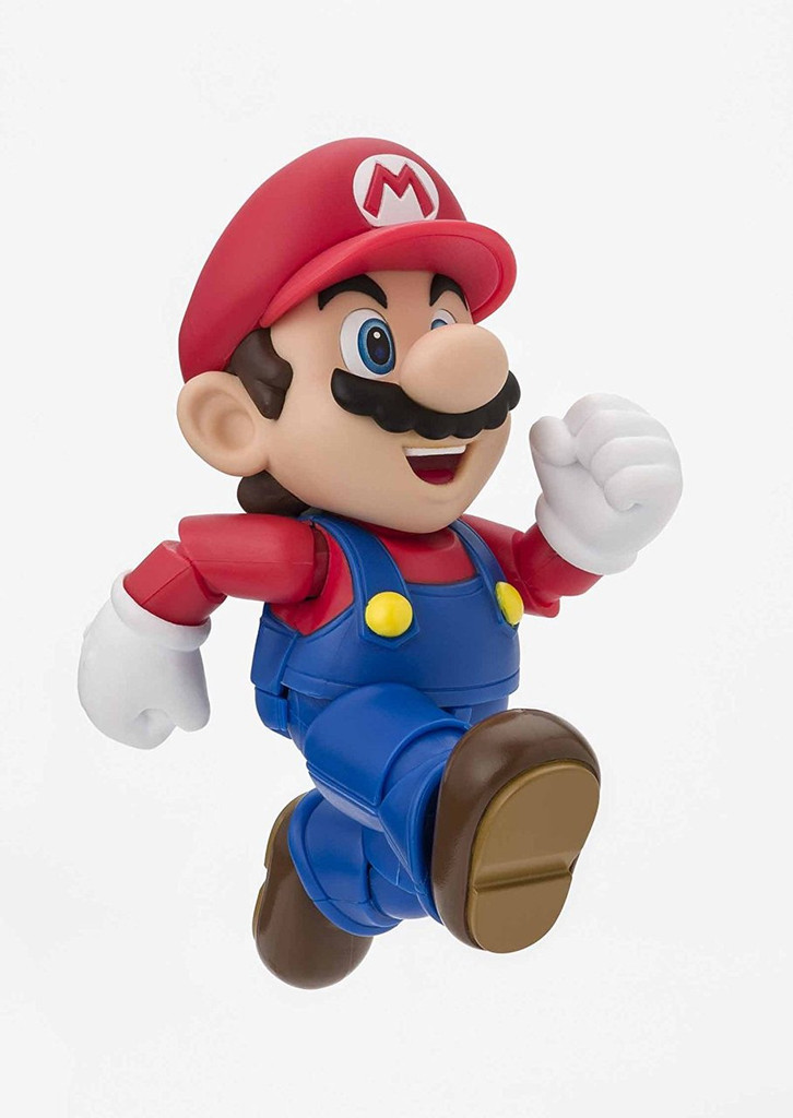 Bandai 221487 S.H. Figuarts Mario New Package Ver. Figure (Super Mario Bros.)