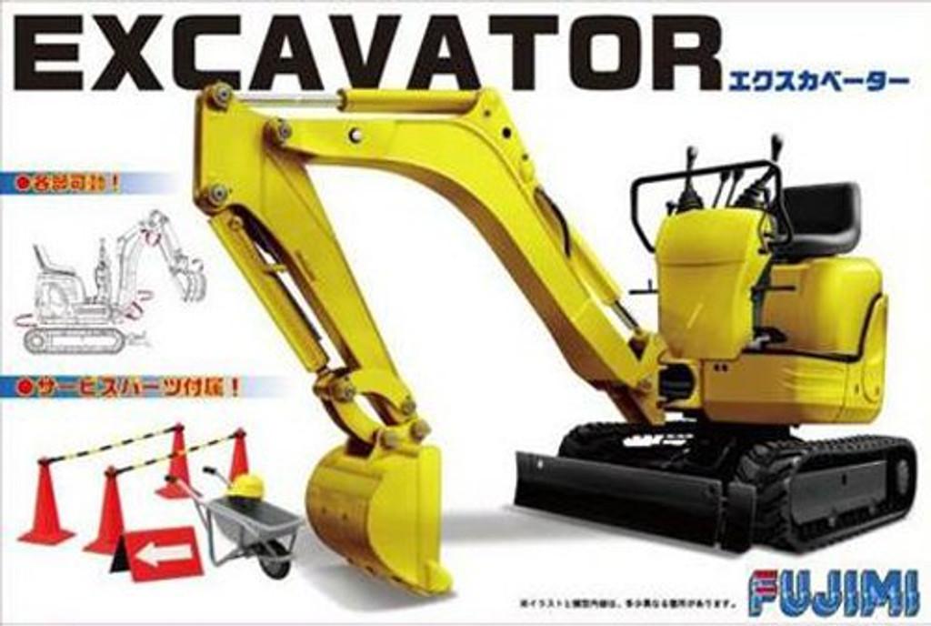 Fujimi GT24 116068 Garage & Tool Series Mini Excavator 1/32 Scale Kit