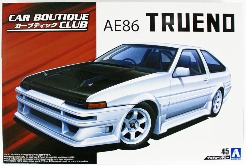 Aoshima 55120 Car Boutique Club Toyota AE86 Trueno 1985 1/24 scale kit