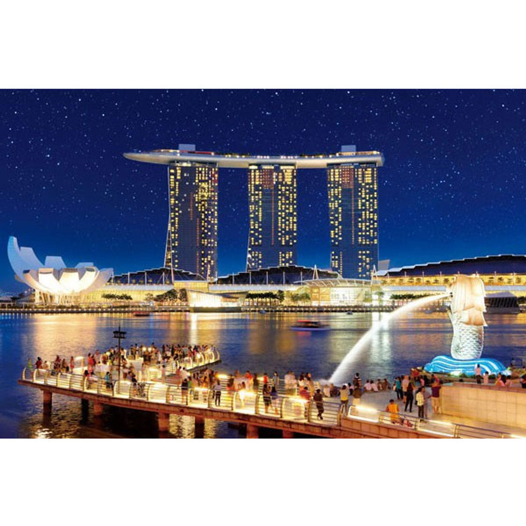 APPLEONE Jigsaw Puzzle 1000-818 Marina Bay Sands Singapore (1000 Pieces)