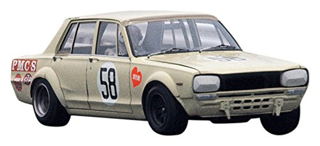 Aoshima 55236 Model Car 70 Nissan PGC Skyline 2000GT-R JAF GP 1970 1/24 scale kit