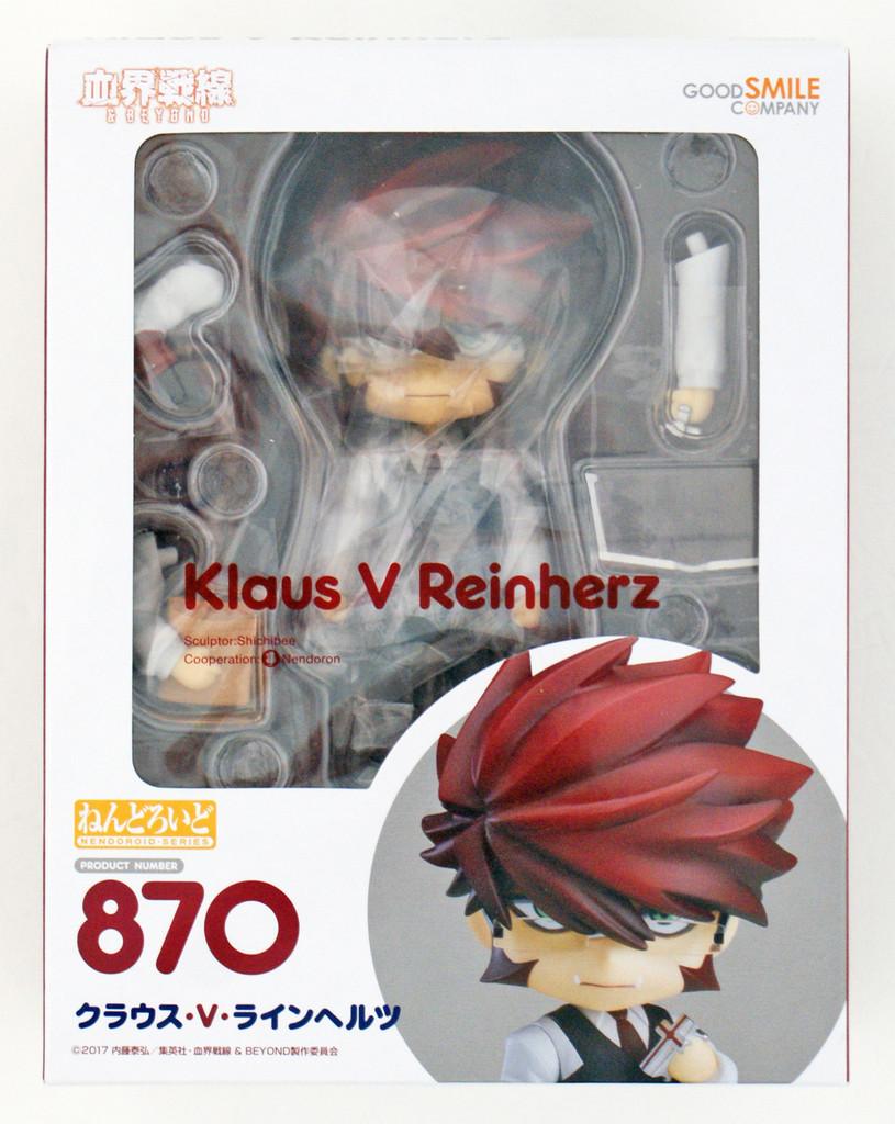 Good Smile Nendoroid 870 Klaus V Reinherz (Blood Blockade Battlefront & Beyond)