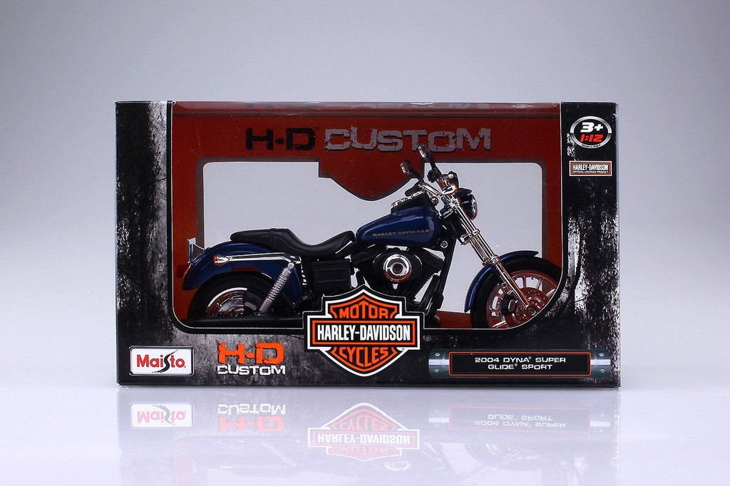 Aoshima Skynet 04385 Harley-Davidson 2004 Dyna Super Glide Sports 1/12 Scale Finished Model