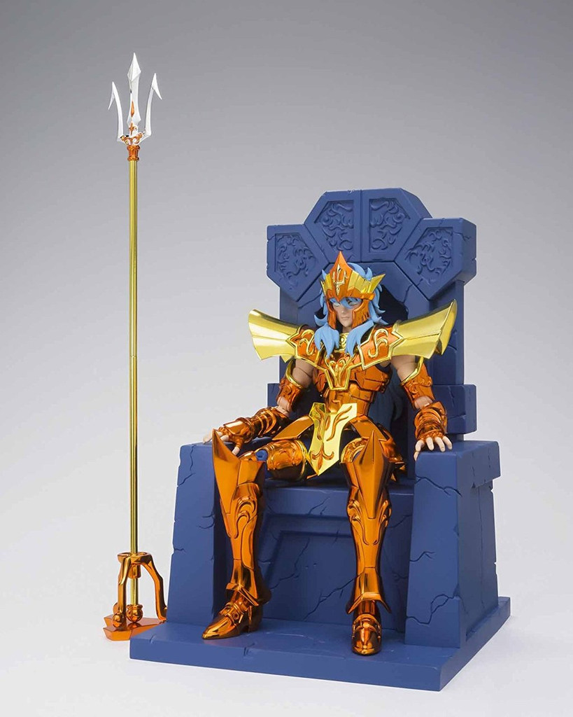 Bandai 238980 Saint Seiya Myth Cloth EX Sea Emperor Poseidon Imperial Throne Set Figure