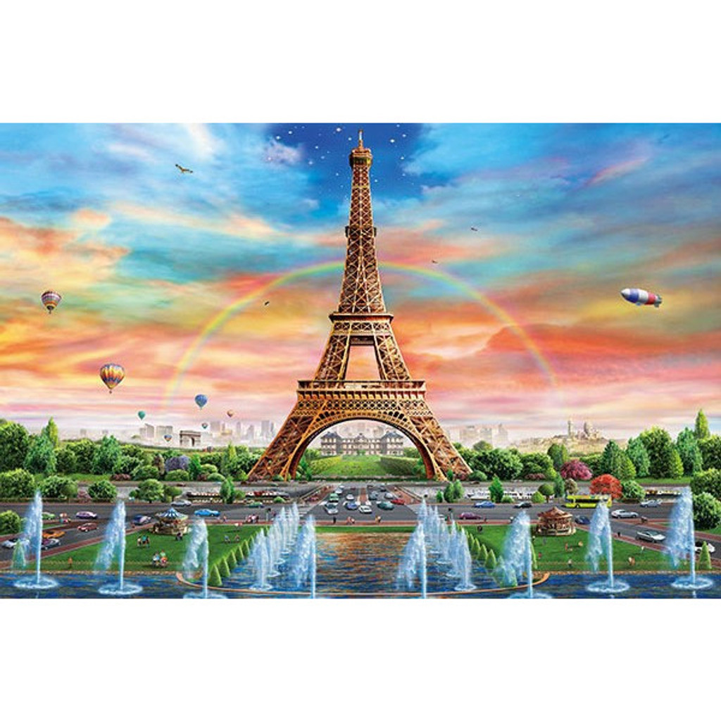 APPLEONE Jigsaw Puzzle 1000-821 Adrian Chesterman Fantastic Paris (1000 Pieces)