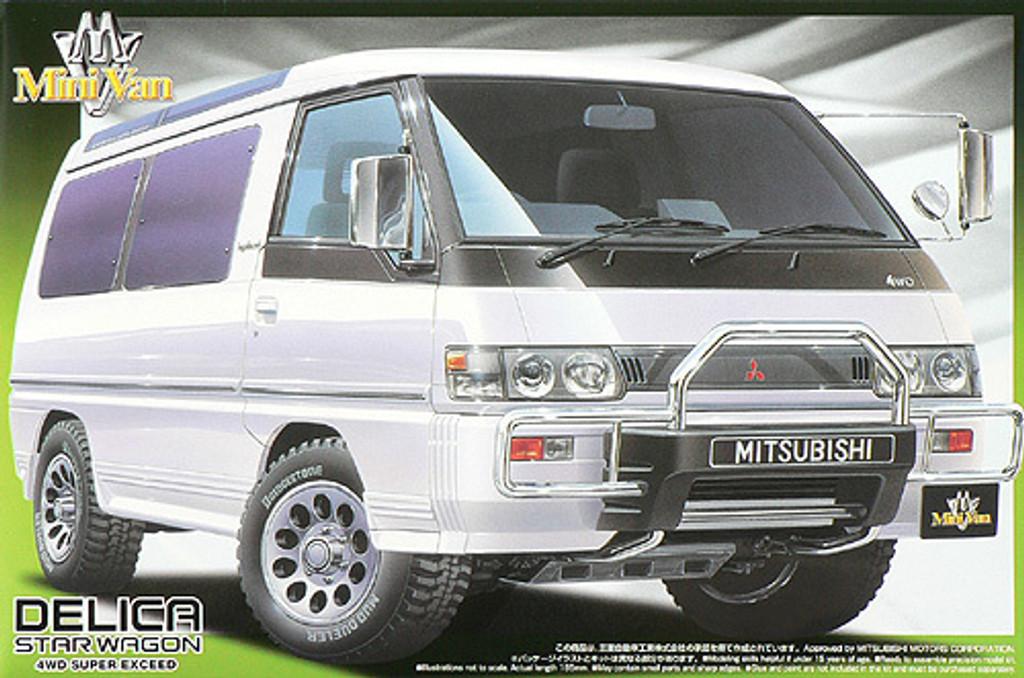Aoshima 44544 Mitsubishi Delica Star Wagon 4WD Super Exceed 1/24 Scale Kit