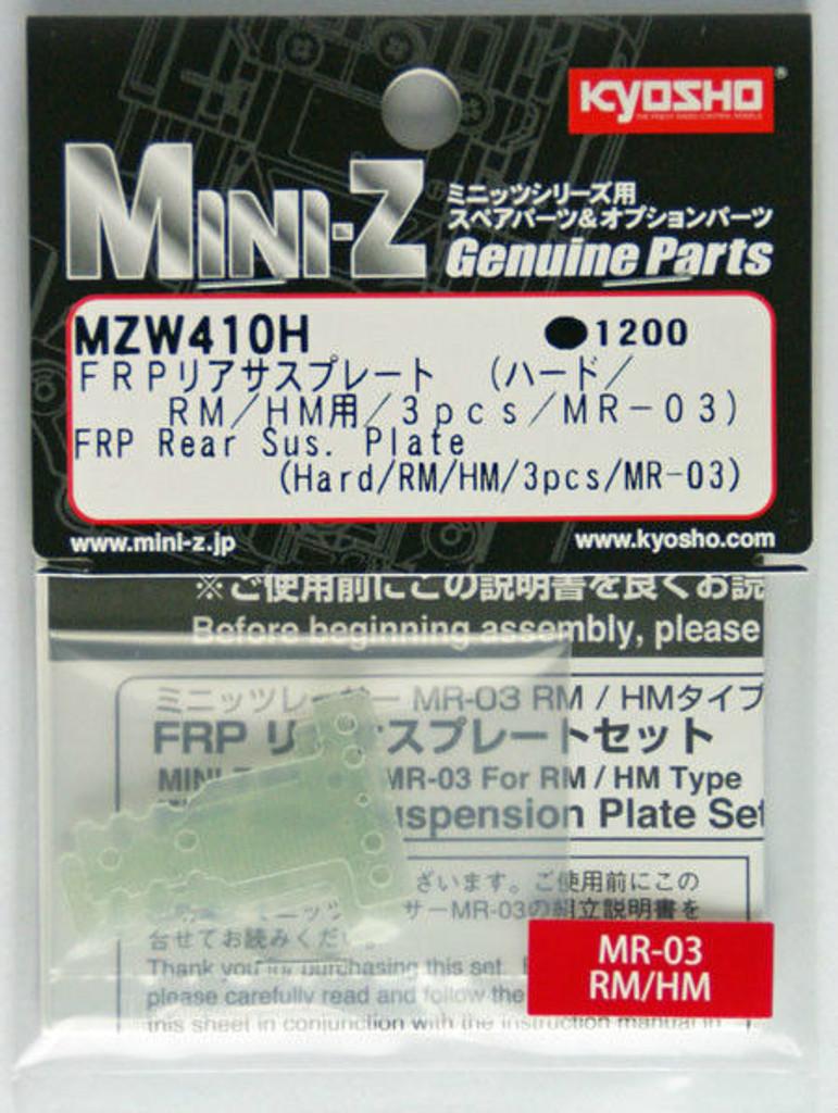 Plate Kyosho Mini Z MZW409H FRP Rear Sus Hard// MM// LM// 3pcs// MR-03
