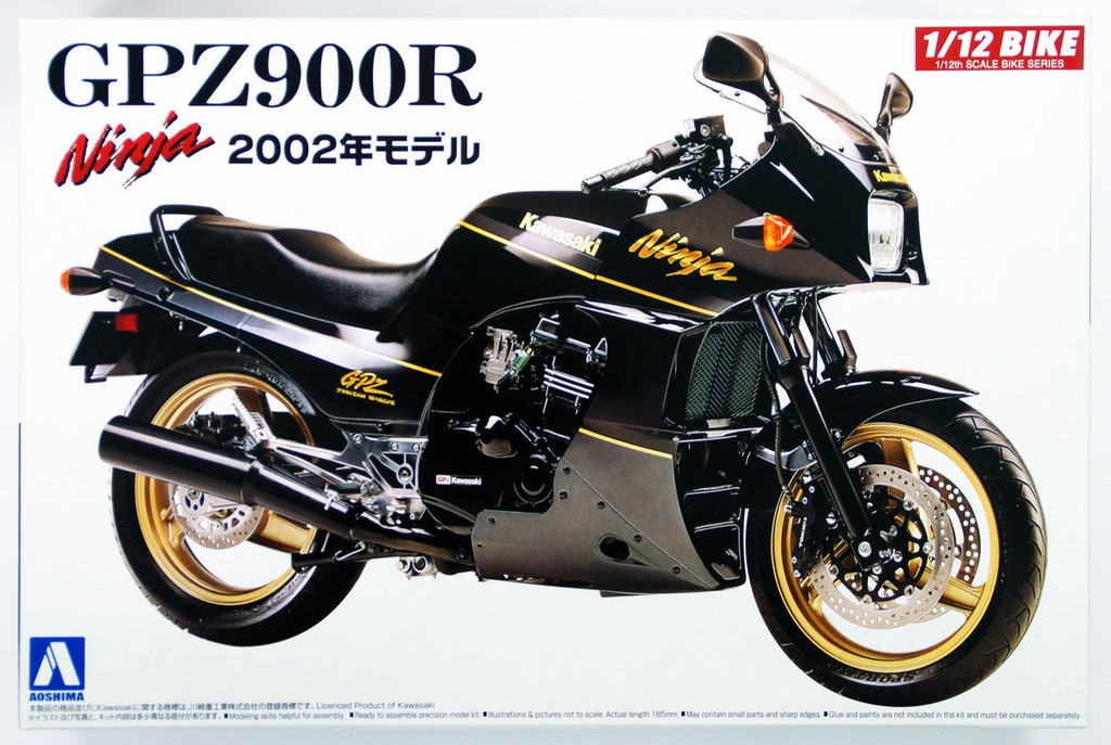 Aoshima 42878 Bike 05 Kawasaki GPZ900R Ninja 2002 1/12 scale kit