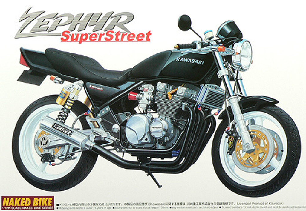 Aoshima Naked Bike 22 43851 Kawasaki Zephyr Super Street 1/12 Scale Kit