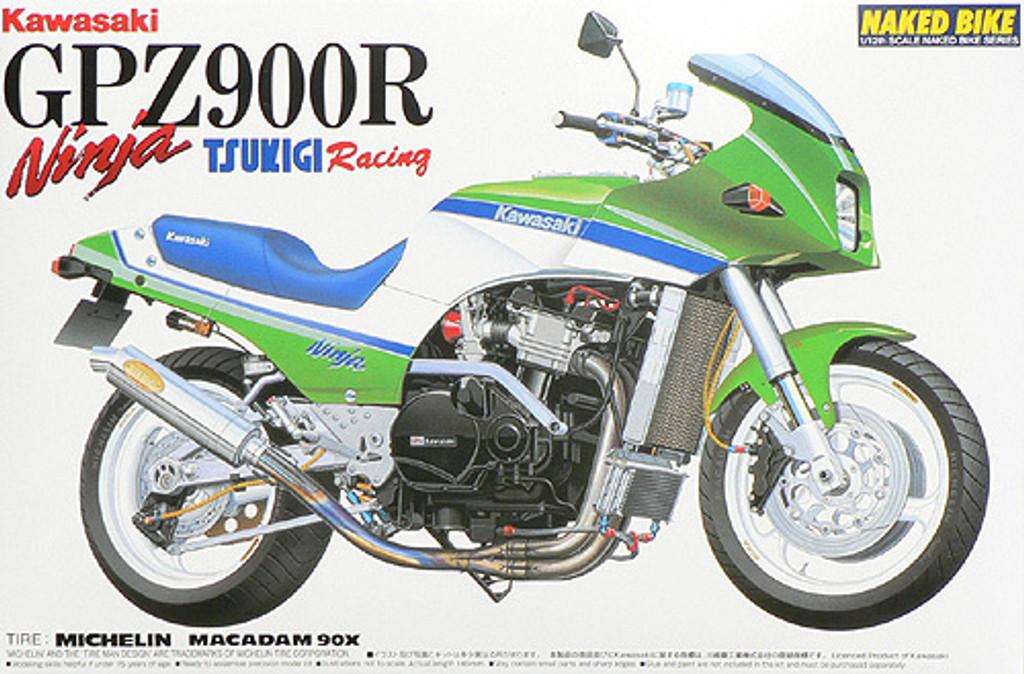 Aoshima Naked Bike 25 46999 Kawasaki GPZ900R Ninja TSUKIGI Racing 1/12 Scale Kit