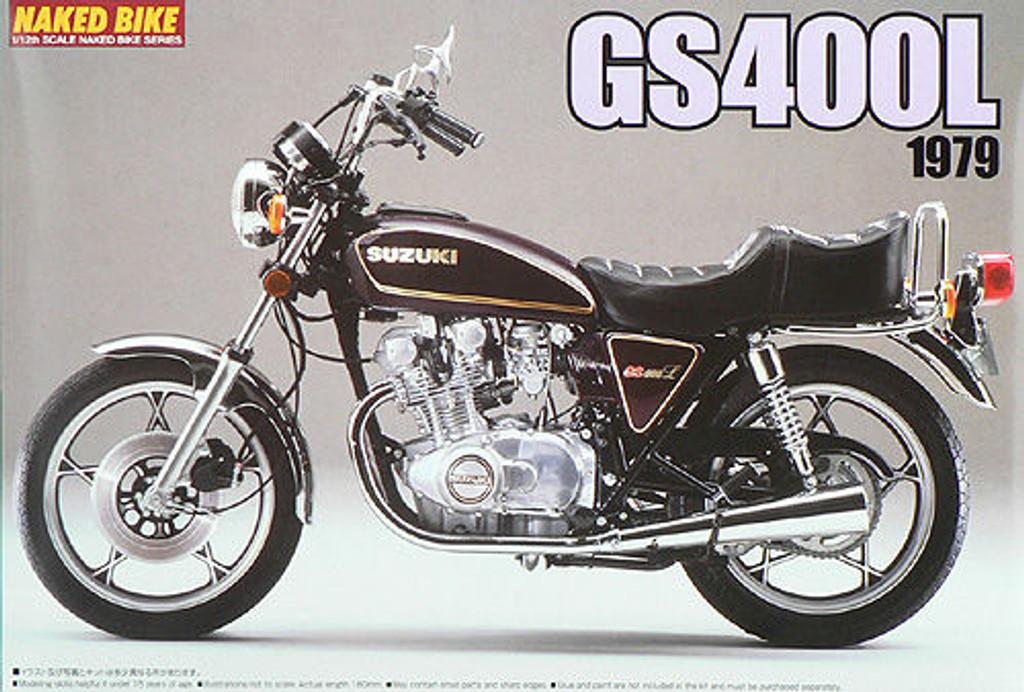 Aoshima Naked Bike 31 46265 Suzuki GS400L 1979 1/12 Scale Kit