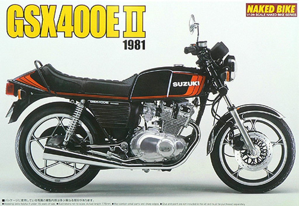 Aoshima Naked Bike 62 44414 Suzuki GSX400E II 1981 1/12 Scale Kit