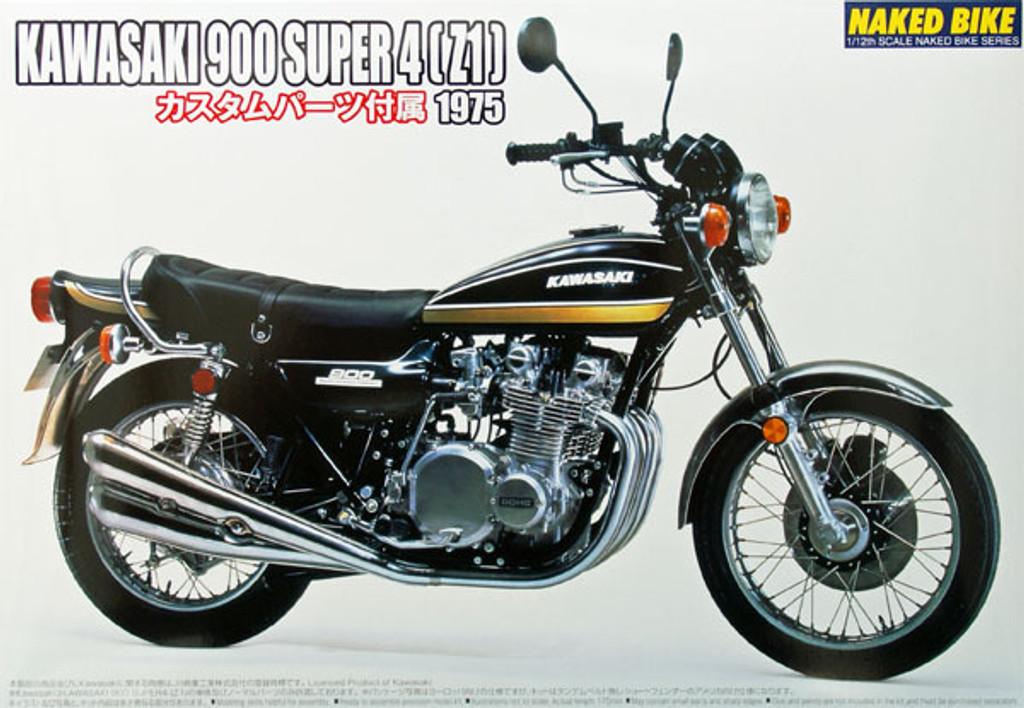 Aoshima Naked Bike 82 50187 Kawasaki 900 Super 4 Z1 1/12 Scale Kit