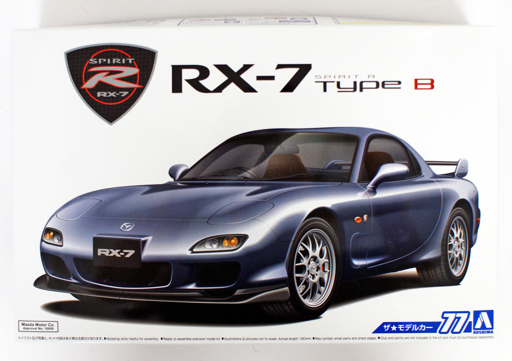 Aoshima 55861 The Model Car 77 Mazda FD3S RX-7 Spirit R Type B 2002 1/24 scale kit