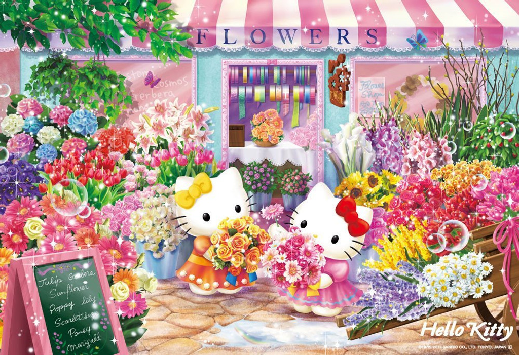 Beverly Jigsaw Puzzle L74-170 Hello Kitty Flower Shop (150 L-Pieces)