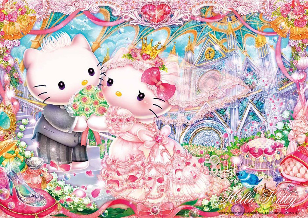 Beverly Jigsaw Puzzle 108-822 Hello Kitty Royal Wedding (108 Pieces)