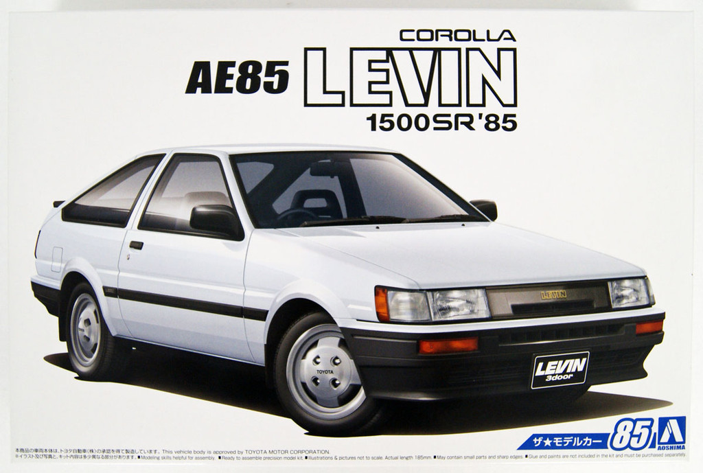 Aoshima 55939 The Model Car 85 Toyota AE85 Corolla Levin 1500SR 1984 1/24 Scale
