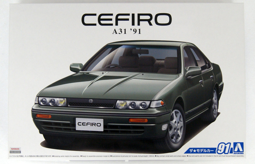 Aoshima 56448 The Model Car 91 Nissan A31 Cefiro 1991 1/24 scale kit