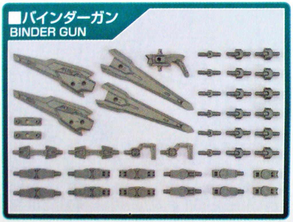 Bandai HG Build Custom 040 Binder Gun 1/144 Scale Kit