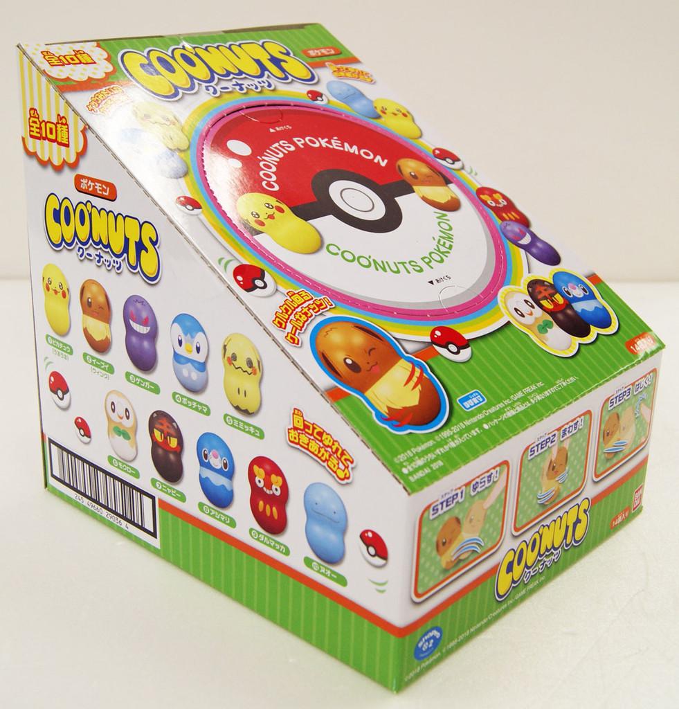 Bandai Candy 290360 Coo'nuts Pokemon Green Package 1 BOX 14 pcs. set
