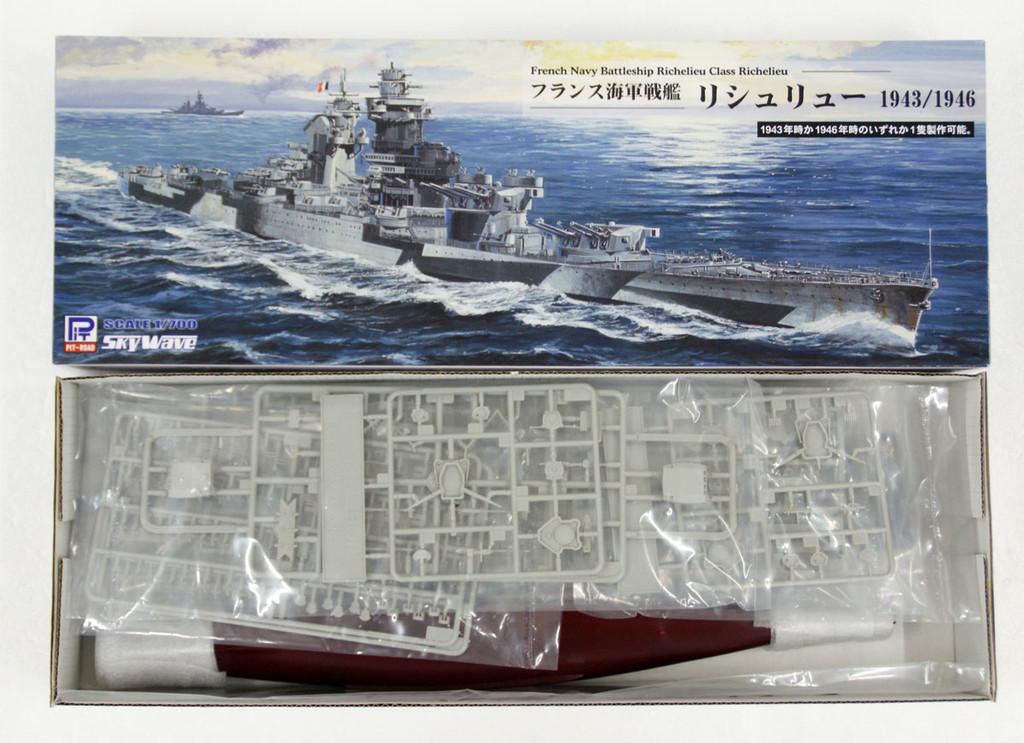 Pit-Road Skywave W-184 French Navy Battleship Richelieu 1943/46 1/700 scale kit