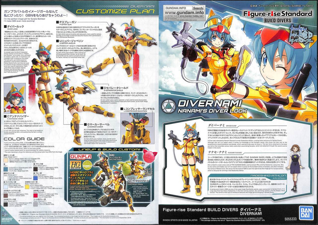 Bandai Gundam Build Divers 553331 Build Divers Related Product A (Provisional) 1/144 Scale Kit