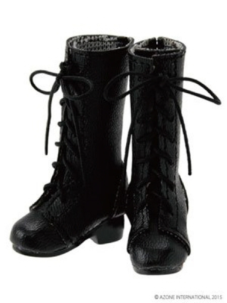 Azone AKT107-BLK PNM 7 Hole Lace Up Boots Black