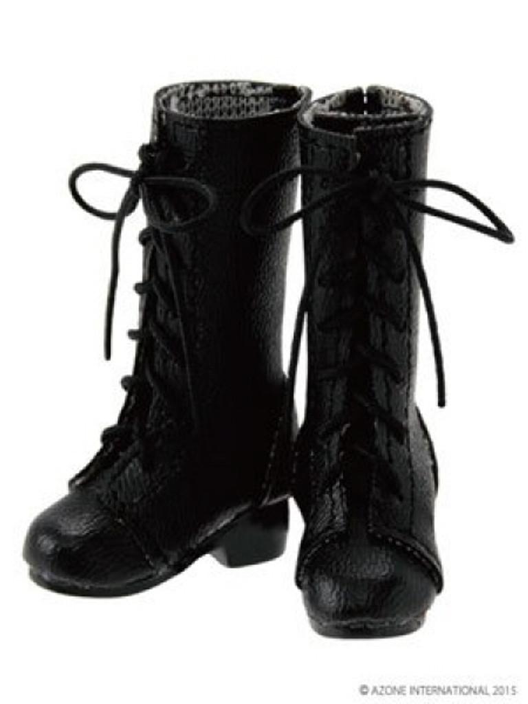 Azone AKT107-BLK PNM 7 Hole Lace Up Boots Black