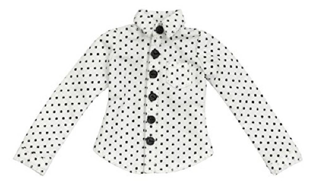 Azone ALB171-WHT PNXS Dot Pattern Shirt White