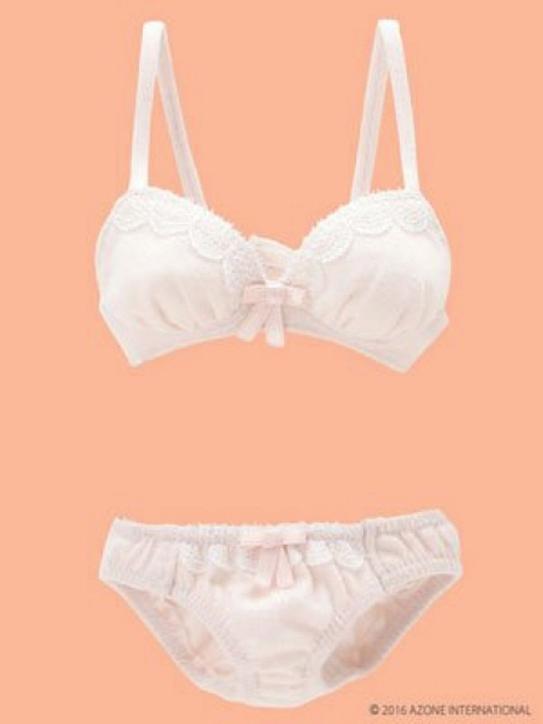 Azone FAO030-PNK AZO2 Milky Cotton Bra & Panties Set Sugar Pink
