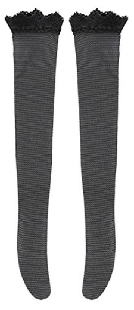 Azone FAO032-BLK Azo 2 Lace Knee High Stocking Black
