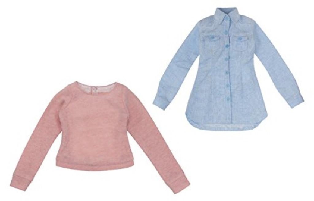 Azone FAO036-SAP Azo 2 Refreshing Denim Dress Set Saxophone x Pink