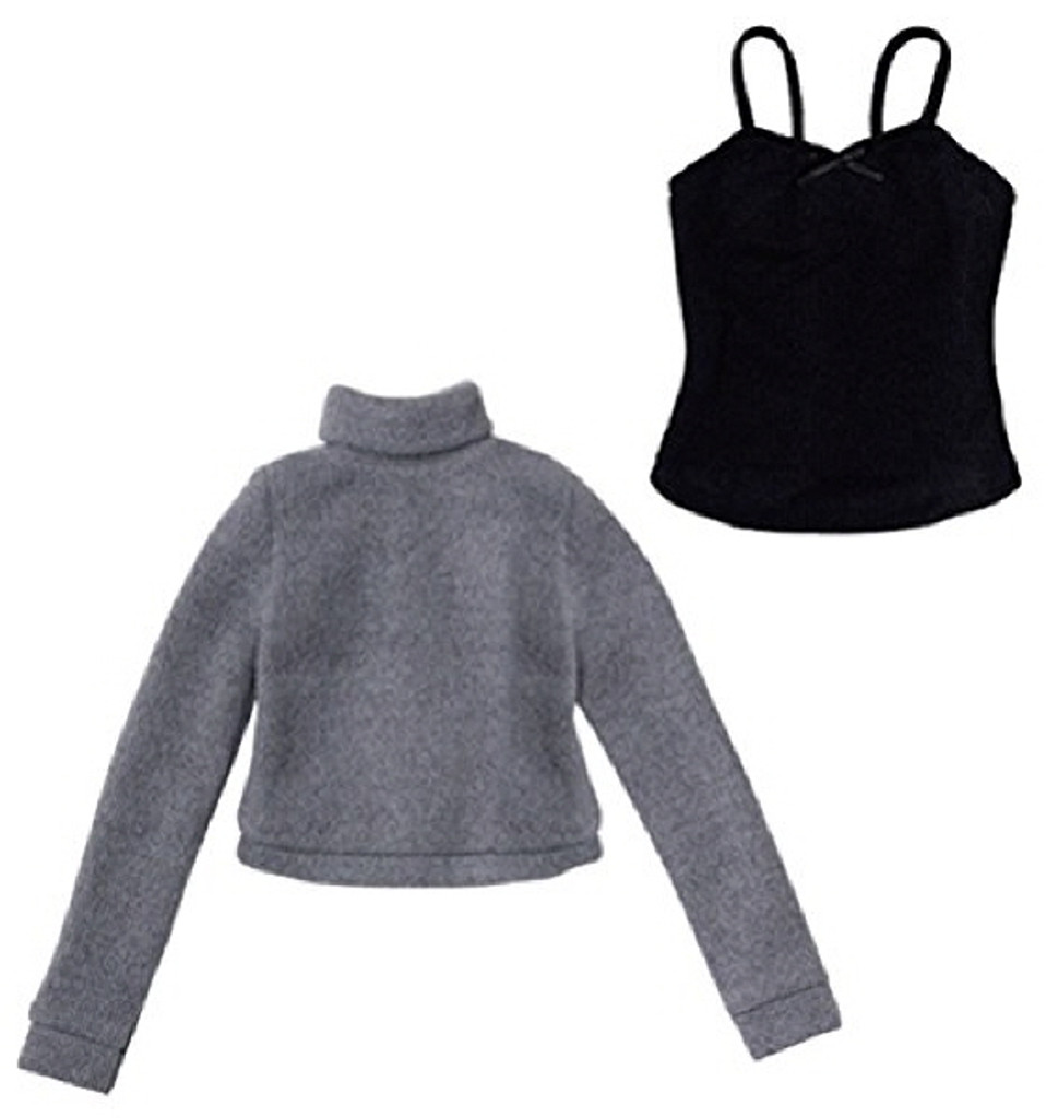 Azone FAO040-GRB Azo 2 Soft Turtlenec Sweater Set Gray x Black