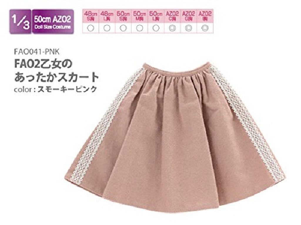 Azone FAO041-PNK Azo 2 Maiden's Warm Skirt Smoky Pink
