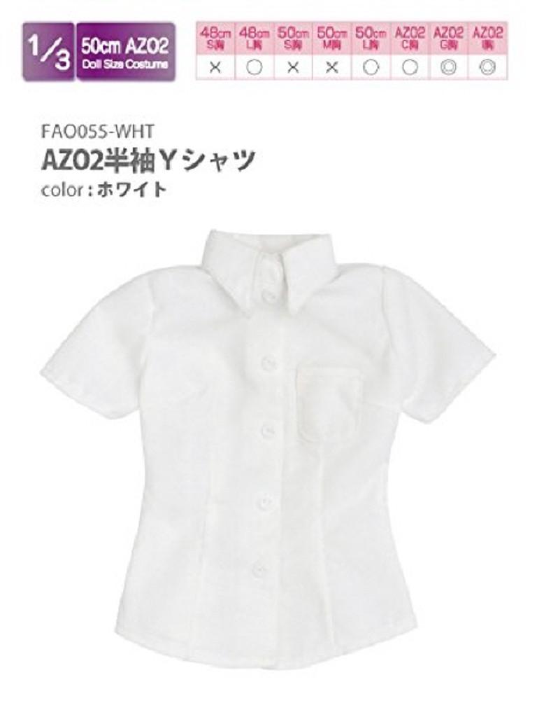 Azone FAO055-WHT Azo 2 Short Sleeve Y Shirt White