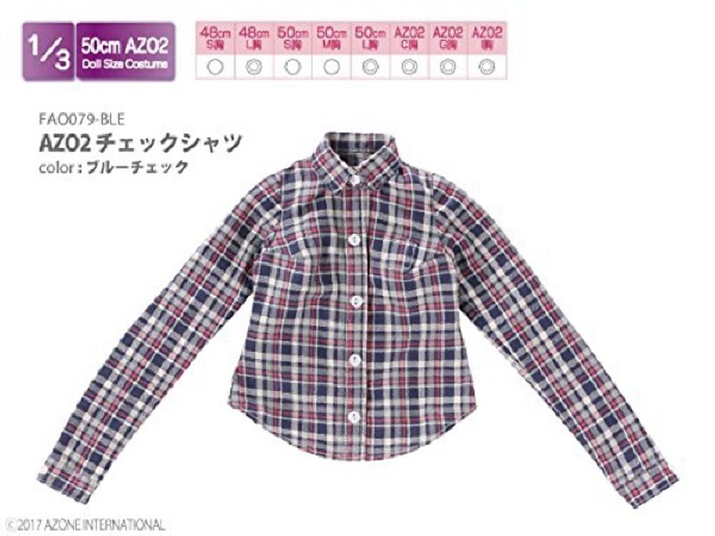 Azone FAO079-BLE Azo 2 Check Shirt Blue Check