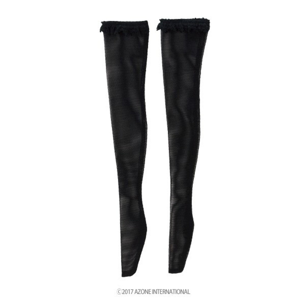 Azone FAO082-BLK Azo 2 Race Knee High Stockings II Black
