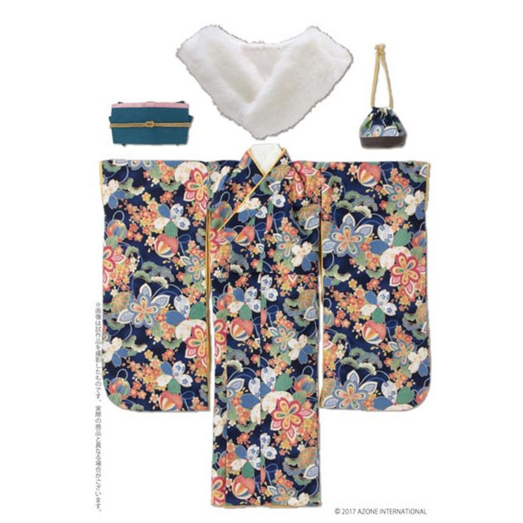 Azone FAO086-NVY Azo 2 Kimono Set Navy
