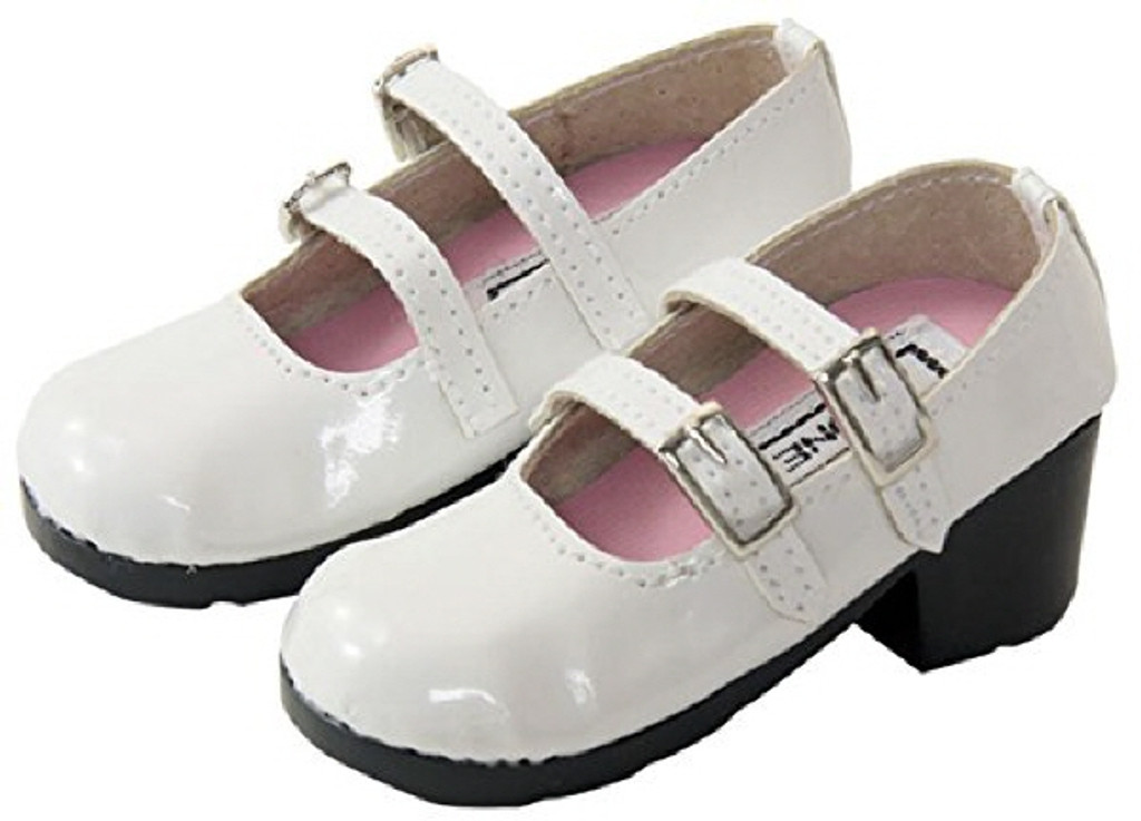 Azone FAR051-WHT 50cm doll Strap Shoes White